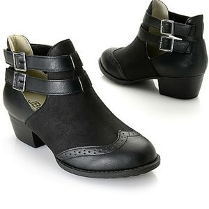 Jambu black ankle booties 8.5